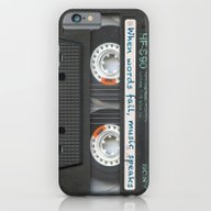 iPhone & iPod Case featuring Cassette IPhone - Words by Diego Tirigall
