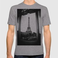 Eiffel Tower Mens Fitted Tee Athletic Grey SMALL
