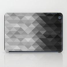 Grayscale triangle geometric squares iPad Case