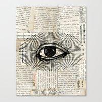 Eye Burst 2 Canvas Print