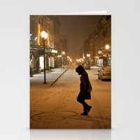 Québec Night Stationery Cards
