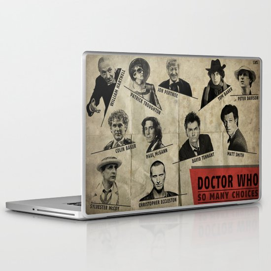 So Many Choices (Doctor Who) Laptop & iPad Skin