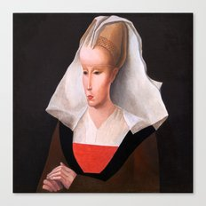 Portrait of a woman. After Rogier van der Weyden. From the series inspired by the Great Masters. Canvas Print
