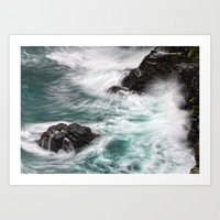 Atlantic Coast, Cornwall… Art Print