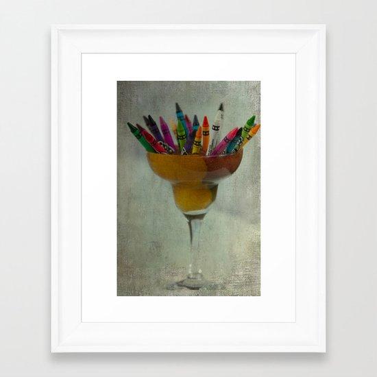 CRAYON LOVE : Addiction Framed Art Print