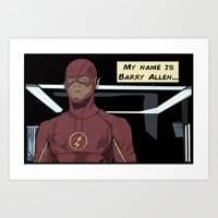 My name is Barry Allen Art Print