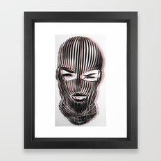 Badwood 3D Ski Mask Framed Art Print