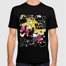 LIL' BLACK FAIRY Mens Fitted Tee Black SMALL