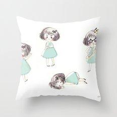 Funny child Throw Pillow