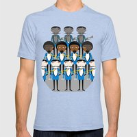 And all that jazz Mens Fitted Tee Tri-Blue SMALL