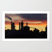 Industrial Sunset Art Print