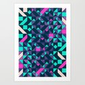 GEOMETRIC COLOUR POP Art Print