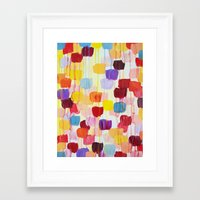 DOTTY - Stunning Bright Bold Rainbow Colorful Square Polka Dots Lovely Original Abstract Painting Framed Art Print