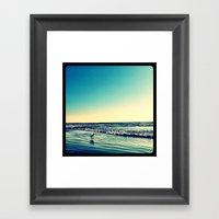 Bird On The Water. Framed Art Print