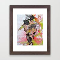 Dino-man Framed Art Print