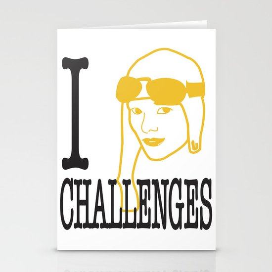 I __ Challenges Stationery Card