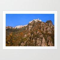 French mountain village 5358 Art Print