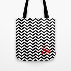 Black Lodge Dreams (Blood On The Red Room Floor) Tote Bag