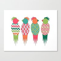 Parrots Canvas Print