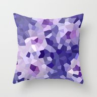 Abstract Floral In Blue … Throw Pillow