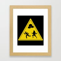 Full Moon - Take Caution… Framed Art Print