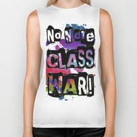 NO MORE CLASS WAR Biker Tank