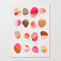 Painted Pebbles 5 Canvas Print