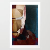 Iron Man Profile Art Print