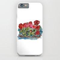 Red Geraniums painting iPhone 6 Slim Case