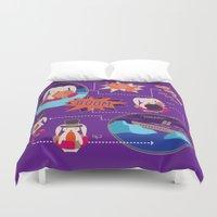 BUNNY SHIPWRECK FLOWCHART Duvet Cover