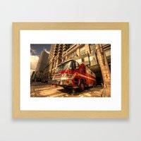 Boston Fire Truck  Framed Art Print