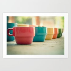 Rainbow Mugs Art Print