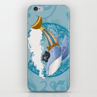 Ballena Pirata iPhone & iPod Skin