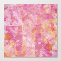 Abstract Pink Painting Canvas Print
