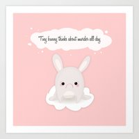 tiny bunny Art Print