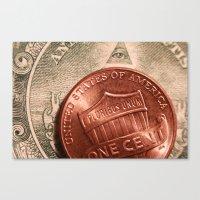 Money! Canvas Print