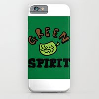 iPhone & iPod Case featuring green spirit by benjamin chaubard