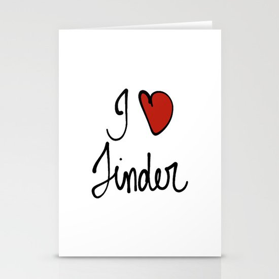 Tinder Stationery Card