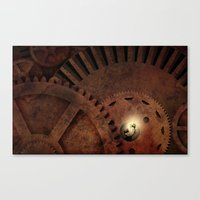The Man in the Machine - A Steampunk Fantasy Canvas Print