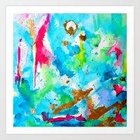 Le Aqua et Passion Art Print