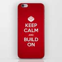 Keep Calm and Build On iPhone & iPod Skin