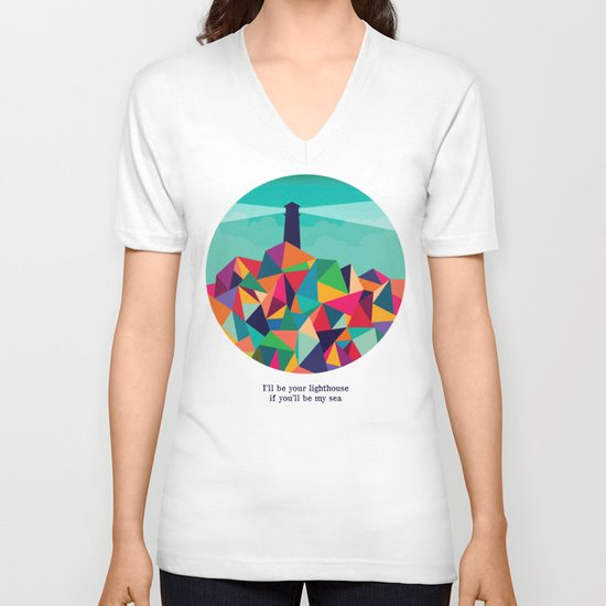 I'll be your lighthouse if you'll be my sea V-neck T-shirt
