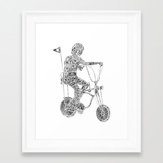 A boy's thing Framed Art Print