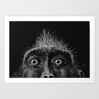 Monkey Surprise Art Print