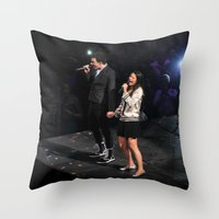 Glee Concert: Lea Michele and Chris Colfer Throw Pillow