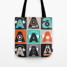 Audio vintage music typography illustration Tote Bag