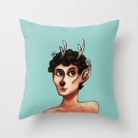 Fawnlock Throw Pillow