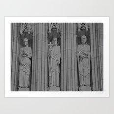 3 Statues Art Print