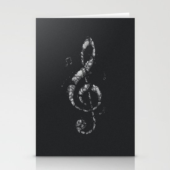 Rock Music Stationery Card