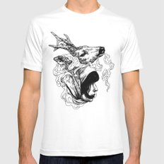 Nyama Mens Fitted Tee White SMALL